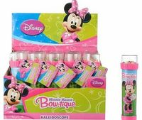 Disney Minnie Mouse Kaleidoscope Hold the kaleidoscope up to the light and watch the colourful faceted beads make pretty patterns around Minnie Mouse. Size H4.5. W4.5. D15.8cm. Weight 0.05g. Suitable from birth. For ages 3 years and http://www.comparestor...