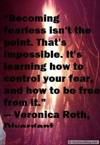 Control your fear message picture