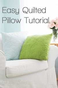 pillow tutorial, quilted pillow and pillows.