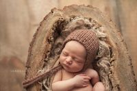Perfect little hat!! Woodland Organic Bonnet Newborn Photo Prop by zoeandoliver, $29.00