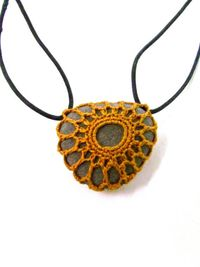 Crochet over stone necklace