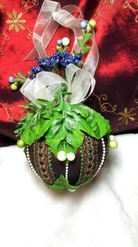 Strawberry Fields Forever Kissing Ball Ornament $15.25 - Another Unique Piece - One of a Kind so get it before someone else does! https://themountaindragonfly.com