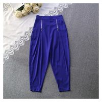 Must-have Slimming High Waisted One Color Tube Trouser Casual Trouser Long Trouser - Discount Fashion in beenono