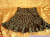Flouncy Green Skirt free crochet graph pattern