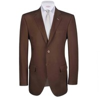 Oxford Men Brown Pure Linen Plain Blazer.  Create a stylish look with this Oxford Men brown pure linen plain blazer. Woven in superfine S100 wool this plain blazer has a very fine finish.