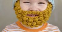 a easy crochet striped beanie pattern, one that can be used alone, or used with my crochet bobble beard