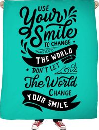 ROFB Smile Fleece Blanket $65.00
