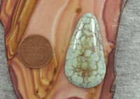 Variscite Cabochon 41 cts Silver Peak Green Coloring Loose Gemstone for Jewelry Making $51.25