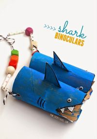 We are in LOVE with shark crafts over here. Love, love, love them. So when I was sent a bunch of free craft materials from Horizon Group awhile back, I knew wha