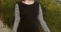 Maternity Chic Striped Top Alternative Rockabilly PinUp Gothic from MamaSan Maternity Apparel. $29.00, via Etsy.