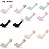 1 Pair UV Protection Cooling or Warmer Arm Sleeves for Men Women Sunblock Protective Gloves Running Basketball Cycling Driving $22.36