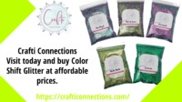 Crafti Connections the online store for Wholesale color Shift Glitter. Color Shift Glitters are often referred to as Chameleon. They can vary in color from different visual angles and lighting conditions. Multiple Colors, Multiple Vibrant Sparkles. Visit ...