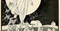 Helen M. Barton, illustrator. Lady Moon. From the book �€œFairy Roads to Science-Town�€ by Mary Earle Hardy, c1919.