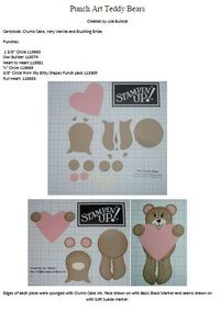 Here it is just for you! The tutorial for my cute punch art Teddy Bears with Heart. You can click on the above photo to download the PDF file and happy punching