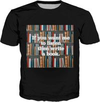 A Book (Black) T-Shirt $30.00