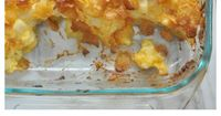 Classic Corn Flakes Potato Cheesy Casserole recipe made with cubed hash browns, cheese and sour cream. Perfect side dish for family events!