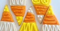 Candy Corn Sugar Cookies. Even if you hate candy corn, you'll LOVE these cookies!