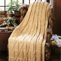 Quick knit afghan- uses size 17 needles!