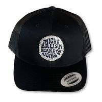 "THIGHBRUSH® BEARD RIDING COMPANY - ""Bling"" Trucker Snapback Hat - Black"