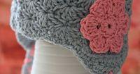 Toddler Girls Crochet Hats with Earflaps Crochet by LalaAndMeShop, $18.00
