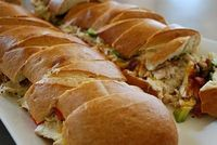 French bread chicken sandwich