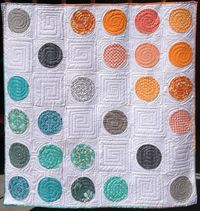 "Divergence Quilt Pattern, 60 x 60"", Applique pattern by Marian Gallian 