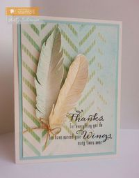 Waltzingmouse Inspiration Blog, Kelly's stunning feathers card! Follow the link to the inspiration blog to see more of her creations!