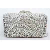 Luxury crystal diamond evening party bag / Hollow out $146.25