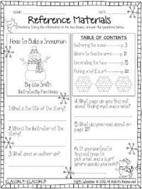 Parts of a Book/Table of Contents - Free