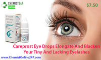 Hypotrichosis and open angle glaucoma are treated by one of the best and most wanted medicine - Careprost eye drops, generic Bimatoprost. It is used for long, thick and dark eyelashes. Buy Careprost online in USA - ChemistOnline247 - http://www.chemistonl...