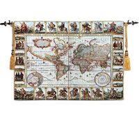 Antique World Map Tapestry $69.00