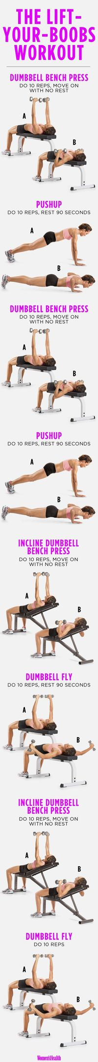 4 Exercises to Lift Your Boobs