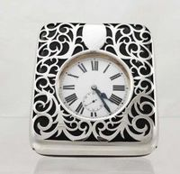 Silver goliath pocket watch and case