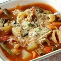"Jamie's Minestrone | Jasonite7 said in his review, ""Absolutly spectacular! The family loved it. Such a rich hearty soup with a great fresh flavor."""