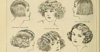 bobbed hairstyles, from �€œThe Battle for Bobbed Hair�€, Photoplay Magazine, 1924
