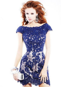 Sherri Hill 2941 Lace Fitted Homecoming Short Dresses