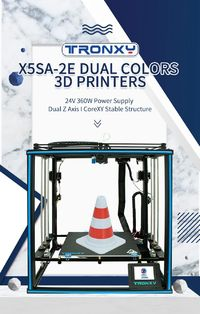TRONXY® X5SA-2E Dual Colors 3D Printer Kit CoreXY with Dual Titan Extruder Dual Z axis 300*300*400mm Printing Size TMC2225 Ultra Quiet
