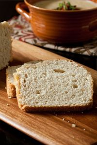 Beer Bread recipe: 3 cups self-rising flour, 1/3 cup sugar, 1 teaspoon kosher salt, 12 ounces beer {can use Bud Light}, 2 tablespoons melted butter