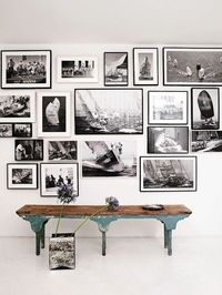wall of black-and-white