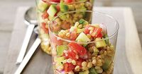 whole grains salad - tasty for summer, keeps well in the refrigerator