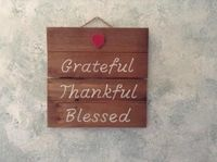 Farmhouse Decor Rustic Country, Inspirational Wall Art, Living Room, Kitchen, Or Dining Room Wall Decor, Grateful Thankful Blessed Wood Sign $15.00