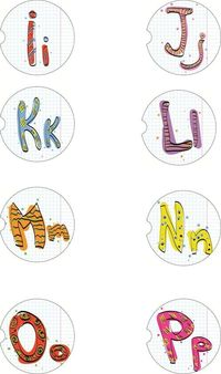 2 Absorbent Car Coasters, Letters I-P, Car Accessories for her, Auto Coaster, Coaster, Cup Holder Coaster, Gift For Her, For Him $14.00