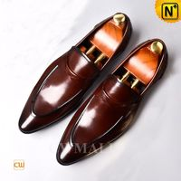 Custom Father's Day Gift | Men Haute Couture Leather Dress Shoes CW719021 | CWMALLS.COM