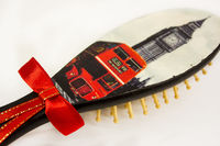 Wooden hair brush, as eco Christmas gift for mom. Natural wood combo. Hair accessories $37.20