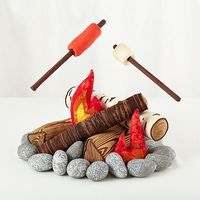 The S'more the Merrier Campfire Set - Land of Nod... pricey but pretty cool.
