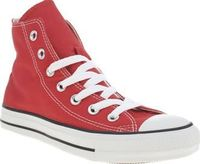 Converse Red All Star Hi Womens Trainers The Converse All Star Hi is an absolute classic and a favourite here at schuh. The red canvas upper bears the original Chuck Taylor badge on the inner ankle and sits on a rubber vulcanised sole with t http://www.co...