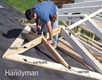 You can add a spacious, airy outdoor porch to your home. We'll show you everything you need to complete the project yourself, including how to frame the porch,