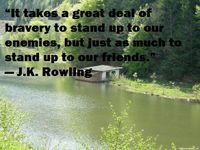 Standing up to our enemies and friends quote