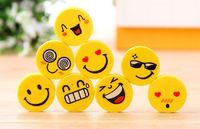 Pack of 20 Yellow Assorted Faces Emoticon Emoji Smiley Erasers. Novelty Rubbers. School Office Stationery £9.09