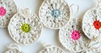 Whit's Knits: Snowflower Ornaments - The Purl Bee - Knitting Crochet Sewing Embroidery Crafts Patterns and Ideas!